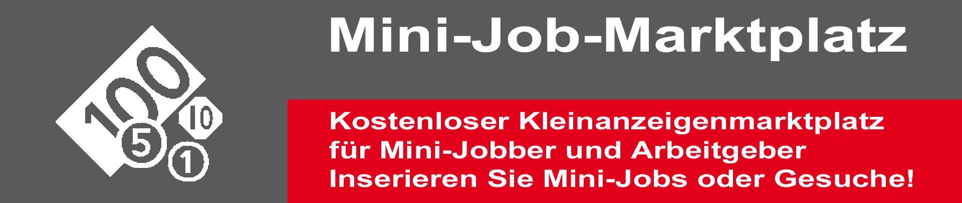 Haben Sie einen Mini-Job zu vergeben? Schnell KOSTENLOS Mini-Job Inserat aufgeben. Sie suchen einen 450€ Job? Durchsuchen Sie unsere Kleinanzeigen oder schreiben Sie eine Suchannonce!